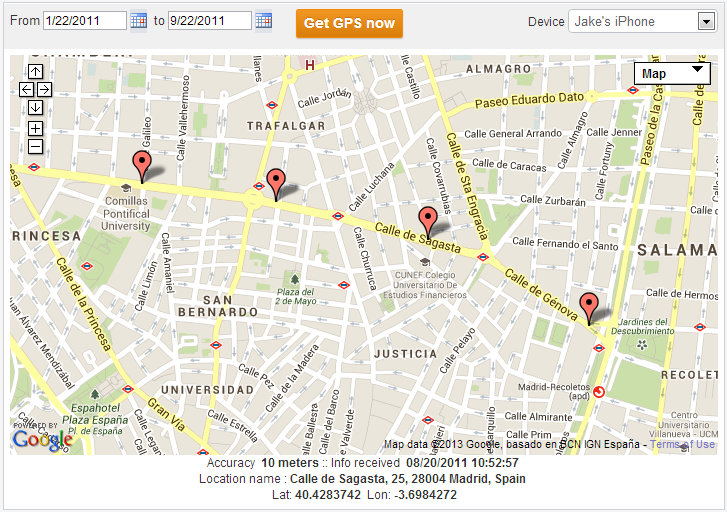 How to track on cell phone location Using XPSpy App